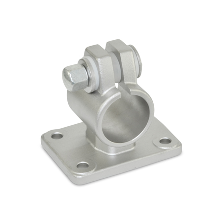 GN 146.5 Stainless Steel, Flanged Connector Clamps, With Four Mounting Holes