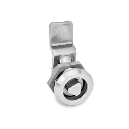 GN 115.6 Mini cerraduras de acero inoxidable Tipo: DK - Funcionamiento con eje triangular (DK6,5)