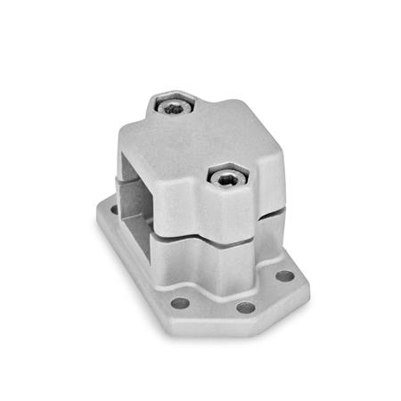 GN 147.3 Aluminum Flanged Connector Clamps, Split Assembly, with 6 Mounting Holes Finish: BL - Blank