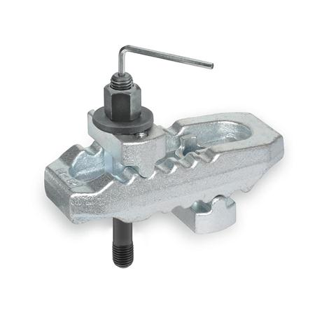 NO. 6312 VI Crocodile Clamps with Adjustable Holders and Stud Bolt