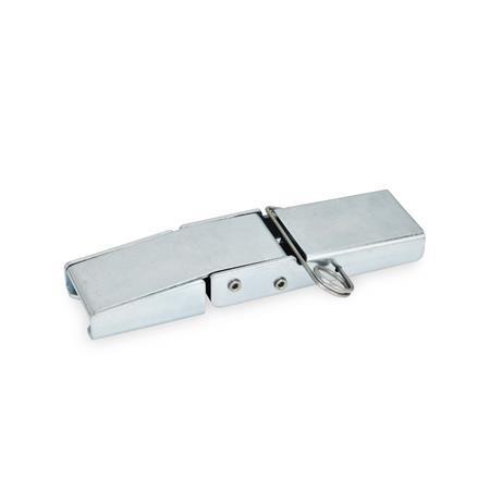 GN 8330 Pestillos de palanca de acero Form: B - con pasador de muelle