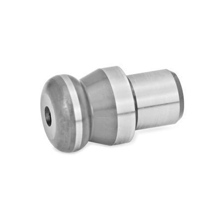 GN 6322 Tornillos de apoyo, de acero Tipo de espárrago: B - Perno de apoyo, alto, cilíndrico