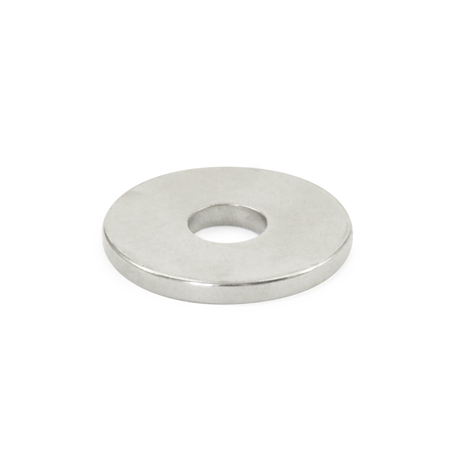 GN 55.1 Raw Magnets, Disc-shaped, with Bore or Countersunk Thru Hole