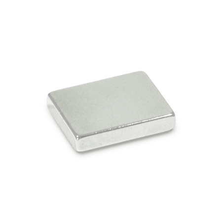 GN 55.4 Steel Raw Magnets, solid block-shaped