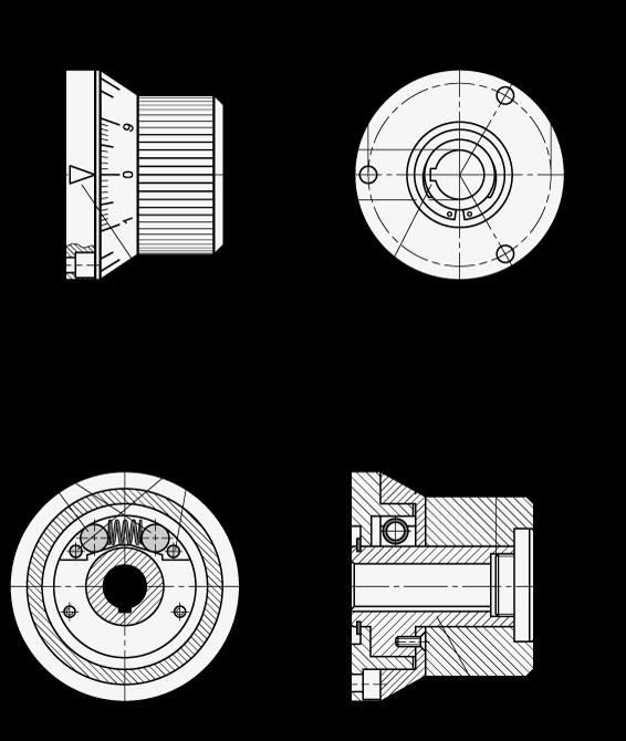 GN 700 Perillas de indexado de acero, con posicionado continuo boceto