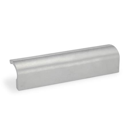 GN 730 Extruded Aluminum Ledge Handles, with Tapped Holes Finish: BL - Blank