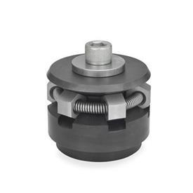 GN 411.2 Dispositivos de bloqueo circular de acero Tipo: S - con segmentos de sujeción