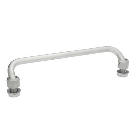 GN 425.2 Stainless Steel Folding Handles, with Threaded Stems