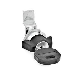 GN 115.1 Zinc Die-Cast Mini-Latches Material: ZD - Zinc die-cast<br />Type: SCK - Operation with wing knob, lockable