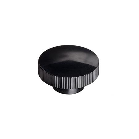 KKBH Polypropylene Plastic  Knurled Knobs, with Tapped Insert