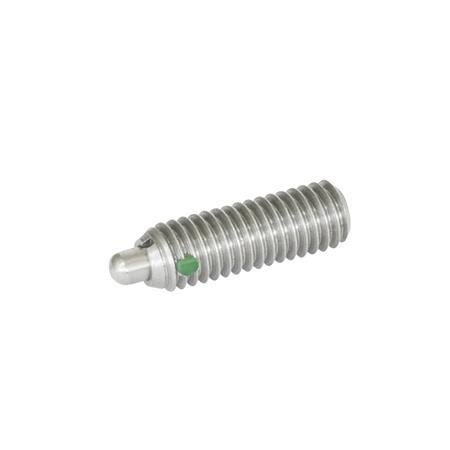SPSSNL Stainless Steel Spring Plungers, With Stainless Steel Nose