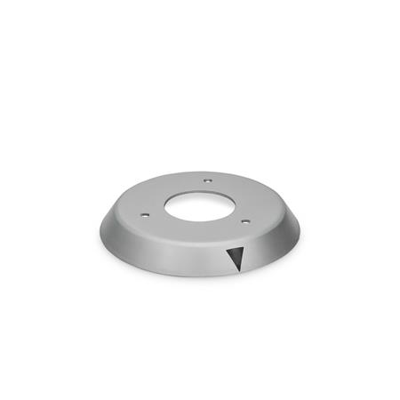 EN 526.1 Aluminum, Control Knob Flanges, Blank, with Pointer, or with Calibrated Scale Type: A - with arrow