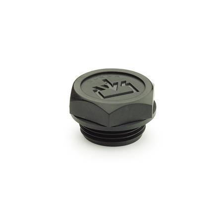 EN 747.2 Plastic Oil Fill Plugs, with Recessed Seal