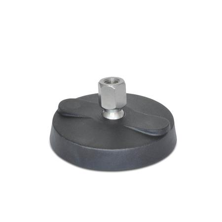 "WN 9100.1 Stainless Steel Tapped Type ""NY-LEV®"" Nylon Base Leveling Mounts, Without Lag Bolt Holes"
