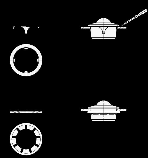 GN 509.3 Retenes de fijación, para unidades de transferencia con bola boceto