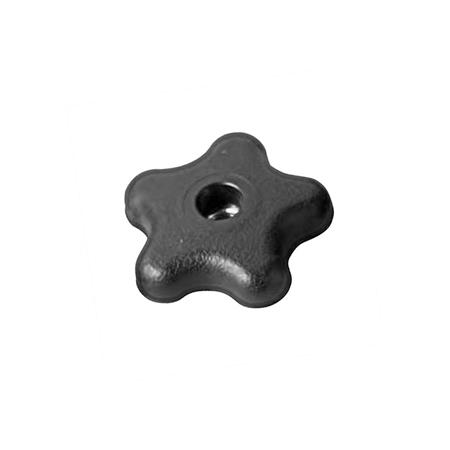 FSK Nylon Plastic, Five Lobed Knobs, with Tapped Through Hole Insert