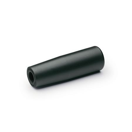EN 519.6 Technopolymer Plastic Softline Cylindrical Handles, with Molded-In Thread