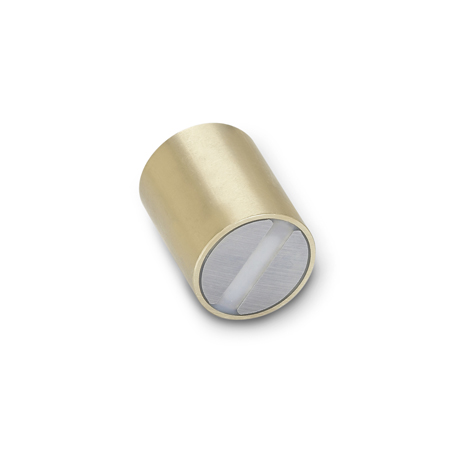GN 54.1 Brass Retaining Magnets, rod-shaped, smooth finish