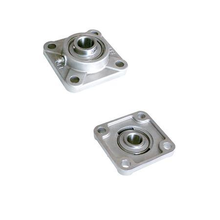 AN 7870.1 Stainless Steel Square Flange Bearing With Through Hole Bearing