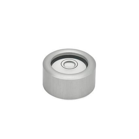 GN 2279 Niveles de ojo de buey de aluminio, para montaje en superficie Material / acabado: ALN - Anodizado, color natural