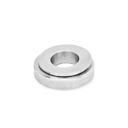 GN 350.3 Stainless Steel Spherical Leveling Washers